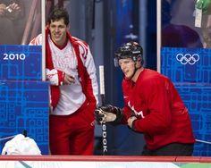 "Sochi Olympics headline: ""Crosby, Malkin will be bitter rivals who figure prominently in their team's hockey fortunes."" Reality: Someone better tell Geno & Sid that. Hockey Rules, Hockey Puck, Hockey Players, Ice Hockey, Hockey Baby, Winter Olympic Games, Winter Olympics, Nhl Wallpaper, Evgeni Malkin"