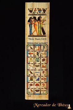 Marcador De Livro – Bookmark Papiro Egípcio Hieróglifos 3. Frete Grátis - Carta Registrada