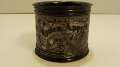Antique Pewter German Napkin Ring Monogrammed Dated by EtagereLLC, $25.00