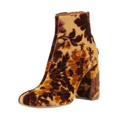 Stella McCartney Floral-Print Velvet Ankle Bootie, $1585