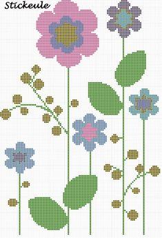 Cross Stitch Tree, Cross Stitch Borders, Cross Stitch Baby, Cross Stitch Flowers, Cross Stitch Designs, Cross Stitching, Cross Stitch Patterns, Basic Embroidery Stitches, Hand Embroidery Videos