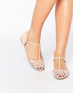 Image 1 ofASOS JANINE Embellished Summer Shoes