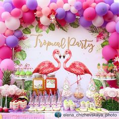 Decoracion de fiesta tropical