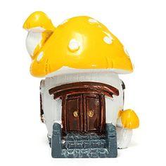 KINGSO Miniature Escalator Moss Mushroom House Dollhouse Garden Fairy Ornament Pot Plant Craft Home Decor Yellow King So http://www.amazon.co.uk/dp/B00U5VUCCA/ref=cm_sw_r_pi_dp_GWizvb1NXAS04