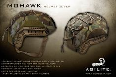 The Mohawk features aerodynamic, snag-free sides and is composed of lightweight, hard-wearing mil-spec materials. It is currently available in Ops-Core helmet cuts and will be available in ACH/MICH and IDF Light Helmet versions soon.