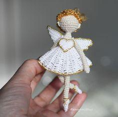 Crochet Angels, Crochet Art, Crochet Dolls, Free Crochet, Crochet Patterns, Easy Crochet, Miniature Dolls, Art Dolls, Crochet Earrings