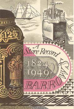 c86:  A Store Record, Barrow's of Birmingham, 1824-1949 Artwork by Edward Bawden