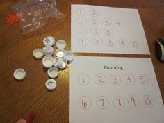 Bottle Cap Counting {And Bonus Activity!}