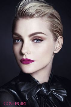 Runway model Jessica Stam is wearing COVERGIRL LipPerfection™ Lipcolor in Spellbound. http://www.covergirl.com/lipperfectionlipcolor