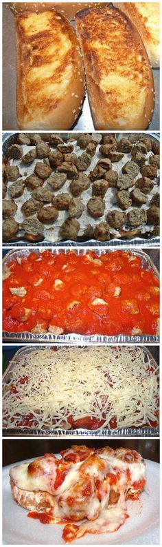 Recipe Favorite: Meatball Sub Casserole. Tastes like a meatball sub. The bread does get soggy though. I did not use frozen meatballs but made my own. Meatball Sub Casserole, Meatball Subs, Good Food, Yummy Food, Pasta, Casserole Recipes, Food Dishes, Sweet Recipes, Delish