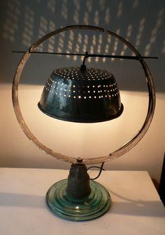 creations lampes, lampadaires, sculptures et tableaux recup