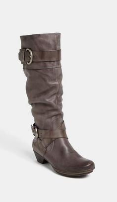 Taupe Buckle Boots Everyone wore boots In London! Cute Boots, Tall Boots, Grey Boots, Crazy Shoes, Me Too Shoes, Comfortable Boots, Buckle Boots, Sock Shoes, Leather Boots