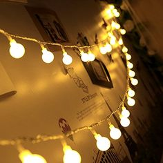 Seasonal Décor, Seasonal Lighting, Outdoor String String Lights USB Powered 100 LED Globe String Lights Waterproof Starry Lights with Remote & Timer Indoor/Outdoor Hanging Lights String for Patio Garden Porch Wedding Party Xmas Decor Warm White - # # Outdoor Decorative Lights, Outdoor Hanging Lights, Indoor String Lights, Outdoor Lighting, String Lights In The Bedroom, Globe String Lights, Christmas String Lights, Christmas Tree, Christmas Wedding