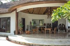 open living area at the villa