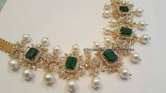 Regal Diamond Set by Mahalaxmi Jewellers - Jewellery Designs India Jewelry, Temple Jewellery, Gold Jewellery Design, Gold Jewelry, Diamond Jewelry, Antic Jewellery, Diamond Choker, Emerald Diamond, Latest Jewellery