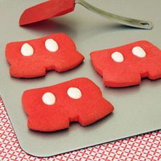 mickey pants sugar cookies. So easy- you can download free template & directions @ family.go.com