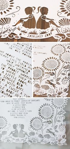 poem papercut by Emily Hogarth