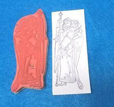 Rare Woman warrior rubber stamp Coronado Island Stamping unmounted fantasy lady