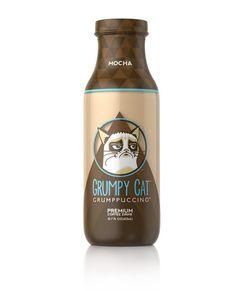 Grumpy Cat devient une boisson en bouteille #packaging #design #coffee