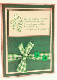 St. Patrick's Day Card - May Your Blessings Outnumber The Shamrocks - St Patty's Day Card - Shamrock Card