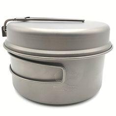 Titanium Pot set Camping Pot With Titanium Pan 202g Te1514B 1000ml ** Click on the image for additional details.