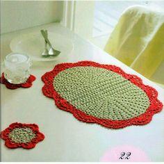 Crochet Knitting Handicraft: napkin
