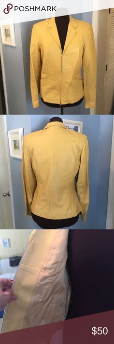 Leather Jacket by Ann Taylor EUC. Very soft leather jacket perfect for Spring. Fully lined. MEASUREMENTS: Shoulder width- 16-1/2 inches, Chest from Side to Side - 18-1/2 inches, Waist Side to Side- 17 inches, Back Length - 22-3/4 inches. Ann Taylor Jackets & Coats