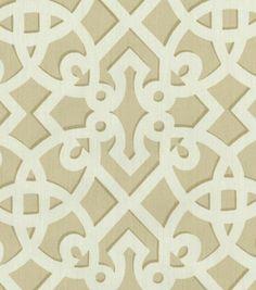 Upholstery Fabric-Williamsburg Francis Fret SandUpholstery Fabric-Williamsburg Francis Fret Sand,