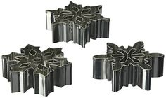 CybrTrayd Snowflake B Cookie Cutter with Cutouts 3 Silver