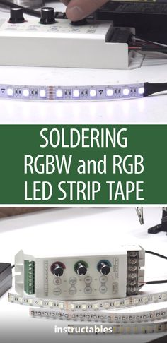 Learn how to make the best possible solder and circuit connections to LED strip. These tips are a must-know for any tech-loving tinkerer. Soldering Tools, Soldering Jewelry, Soldering Techniques, Electronics Projects, Computer Projects, Led Projects, Electronics Components, Crafty Projects, Electrical Engineering