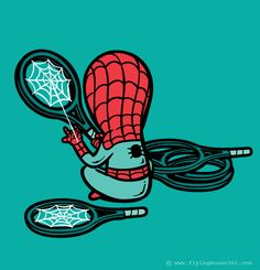 Spiderman's part-time job is netting rackets