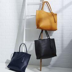 Bubo Handmade Leather Tote Bag #westelm