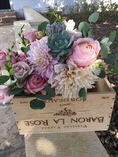Flower Box Centerpiece, Centerpieces, Flower Boxes, Flowers, Event Services, Dahlias, Hotel Wedding, Succulents, Floral Design
