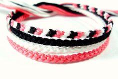White+Pink+and+Black+Friendship+Bracelet+Set+by+QuietMischief,+$11.00