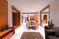 DeLUXE LIVING KIT Best Family Resorts, Beach Accommodation, Phuket Resorts, 2 Bedroom Apartment, Contemporary, Modern, Apartments, Oversized Mirror, Relax