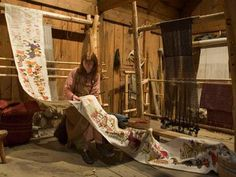 her work on the wall hanging based upon the Oseberg Tapestry