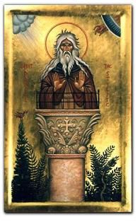 St. Daniel the Stylite (Icon painted by John Snogren)