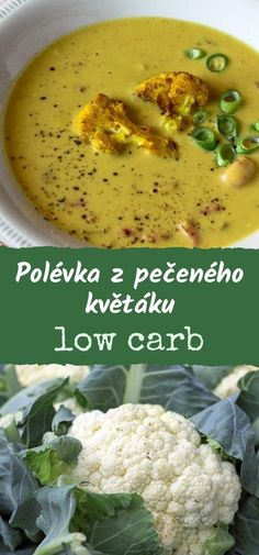 Low Carb Recipes, Soup Recipes, Healthy Recipes, Cauliflower, Food And Drink, Vegan, Vegetables, Low Carb, Cauliflowers