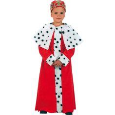 disfraz de tnica de rey mago rojo infantil