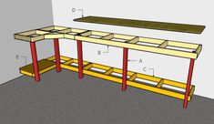 Garage Workbench Plans Garage Work Bench Building A Workbench 14 Super Simple Workbenches You Can Build The Family Handyman Amazing Garage Workbench Ideas 11 Garage Workshop Garage 27 Sturdy Diy Workbench Plans Ultimate List Mymydiy… Garage Bench, Garage Workbench Plans, Building A Workbench, Building A Garage, Diy Garage Storage, Woodworking Workbench, Workbench Top, Folding Workbench, Industrial Workbench