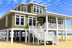 ePlans Cape Cod House Plan – Coastal & Casual – 2616 Square Feet and 2 Bedrooms from ePlans – House Plan Code The perfect beach house! Coastal House Plans, Beach House Plans, Beach House Decor, Beach Cottage Style, Coastal Cottage, Coastal Homes, Coastal Style, Coastal Decor, Coastal Farmhouse