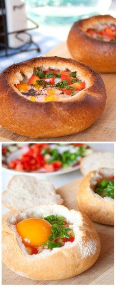 Learn How To Make Breakfast Bread Bowls