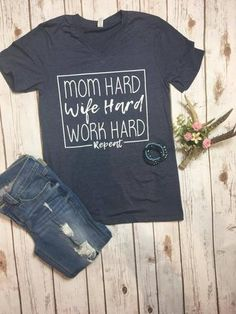 Mom Hard Graphic Tee