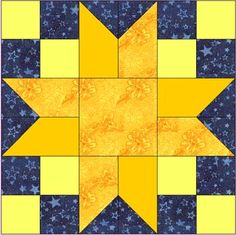 Ann's Star-design idea: switch the two pointed pieces to where the points are touching each other instead of apart.