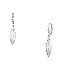 The Silver Lining   175 Gold Collection 14ct White Gold 0.13ct Diamond Earrings