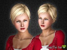 Elisha Cuthbert's lovely hair cut for all ages!  Found in TSR Category 'Sims 3…