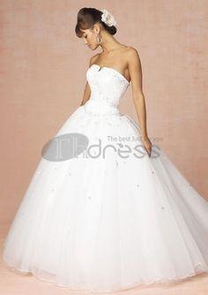Abiti da Sposa Senza Spalline-Su misura vendita calda abiti da sposa senza spalline semplici