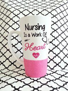 Nurse Mug Nurse Gift Glitter Mug Nursing by LoveInTheCityShop: