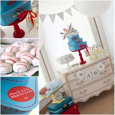 """The CUTEST Baby Shower Theme EVAH! You simply MUST see the stork-themed """"in-flight"""" meals:) ADORABLE:)"""