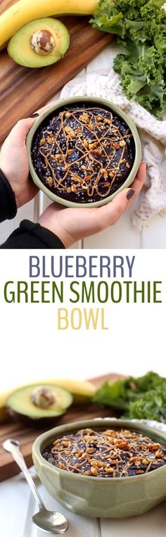 Get in your greens with this healthy and delicious Blueberry Green Smoothie Bowl recipe. Once you try eating a smoothie with a spoon, you will ditch the straw for life!